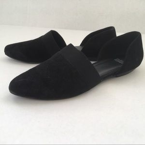 Eileen Fisher Shoes - Eileen Fisher Flute Black Suede Pointy Toe Shoes